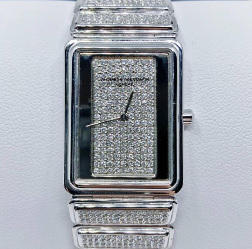 【良品】ヴァシュロン・コンスタンタン VACHERON CONSTANTIN HARMONY VINTAGE ハーモニー ヴィンテージ 18kホワイトゴールド レディース 腕時計 watch 【送料・代引手数料無料】