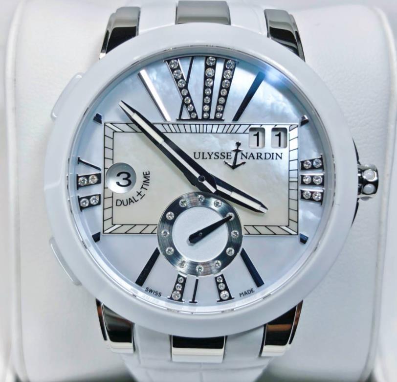 【新品】ULYSSE NARDIN  ユリスナルダン エグゼクティブ・デュアルタイム レディ 243-10/393 セラミック  メンズ 腕時計 watch 【送料・代引手数料無料】