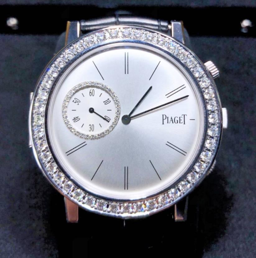 【新同品】Piaget ピアジェ Polo ポロ G0A32152 アフターダイヤモンド 18kホワイトゴールド メンズ 腕時計 watch【送料・代引手数料無料】