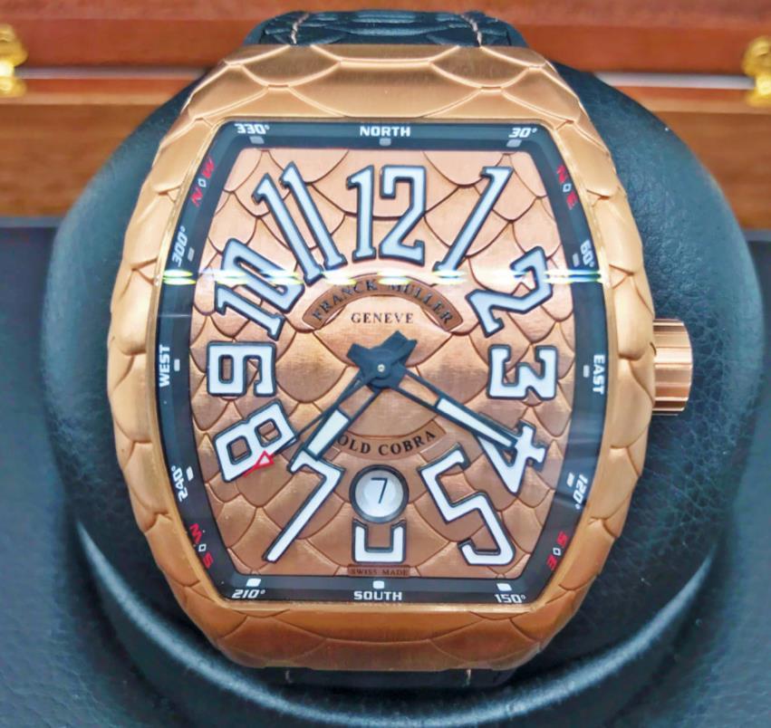 【新品】FRANCK MULLER フランクミュラー ヴァンガード ゴールドコブラ V45 SC DT 5N NR GOLD COBRA メンズ 18Kローズゴールド 腕時計 watch【送料・代引手数料無料】