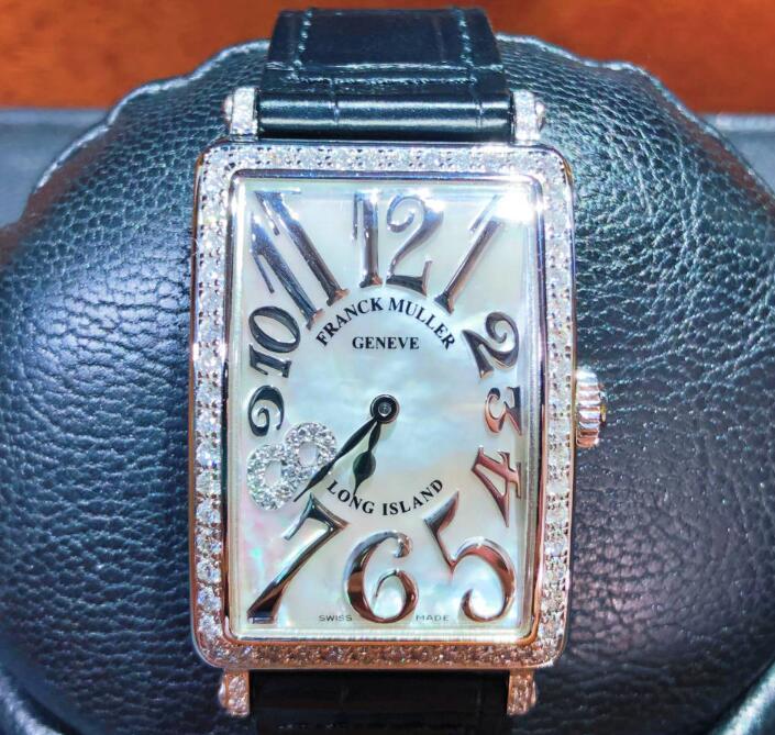 FRANCK MULLER フランクミュラー LONG ISLAND ロングアイランド 952 QZ REL MOP D 1R CD8 8ダイヤ ステンレススチール レディース 腕時計 watch【送料・手数料無料】