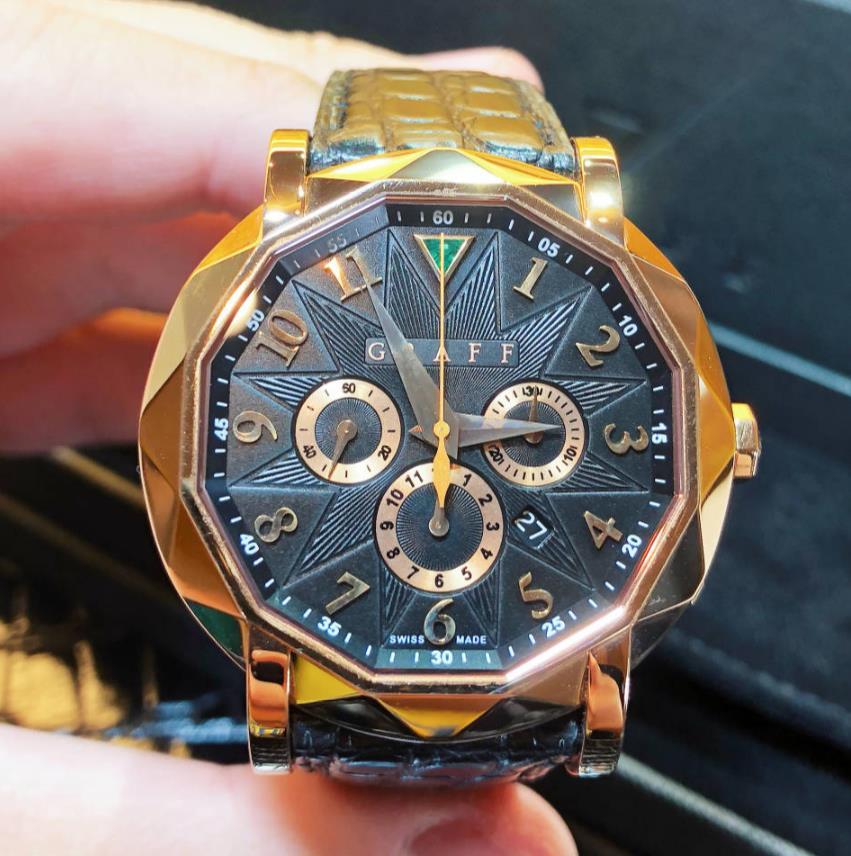 【新品】GRAFF グラフ クロノグラフ CG42PGB 18kローズゴールド 限定500本 メンズ 腕時計 watch【送料・代引き無料】