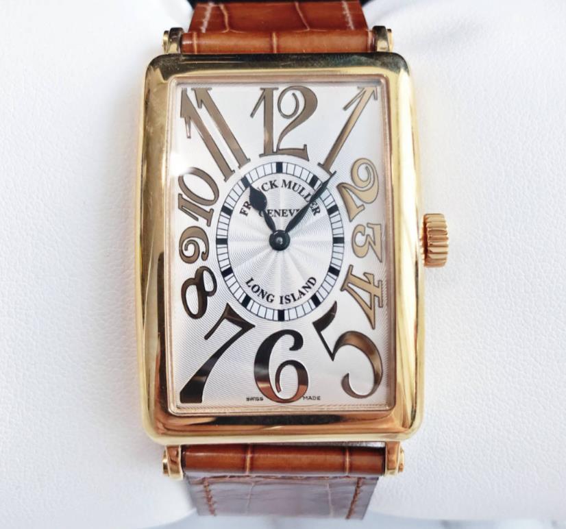 【新品】FRANCK MULLER フランクミュラー  ロングアイランド 18KPG 1002 QZ REL 18Kローズゴールド メンズ 腕時計 watch【送料・代引き無料】