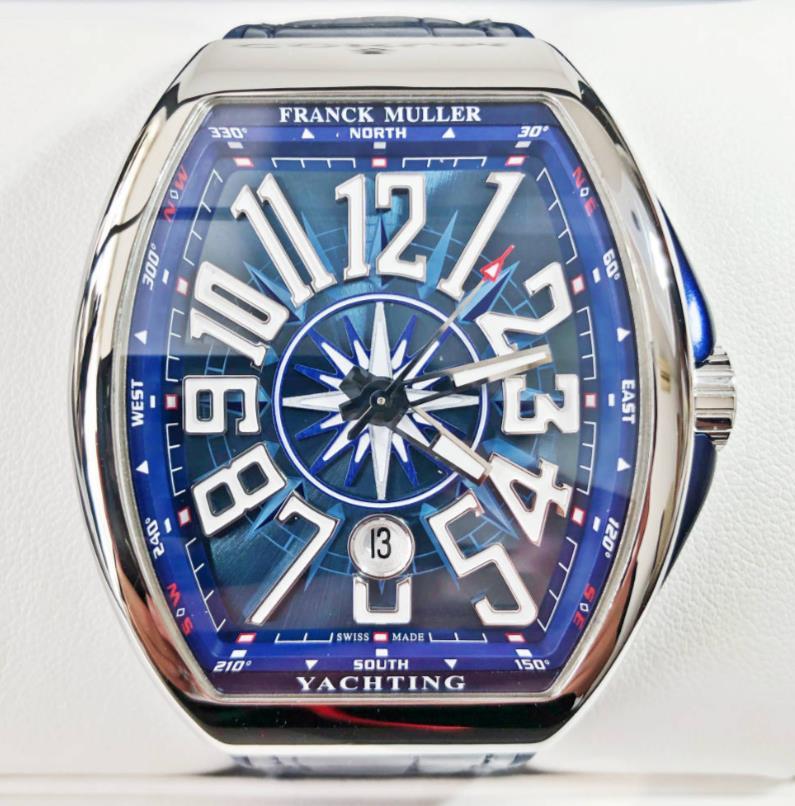 新品 FRANCK MULLER フランクミュラー ヴァンガード ヨッティング V45 SC DT AC BL YACHTING メンズ 腕時計
