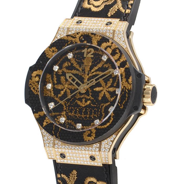 【新品】 HUBLOT ブロイダリーシュガースカル ゴールド ダイヤモンド 世界限定200本 343.VX.6580.NR.0804 腕時計 watch 【送料・代引手数料無料】
