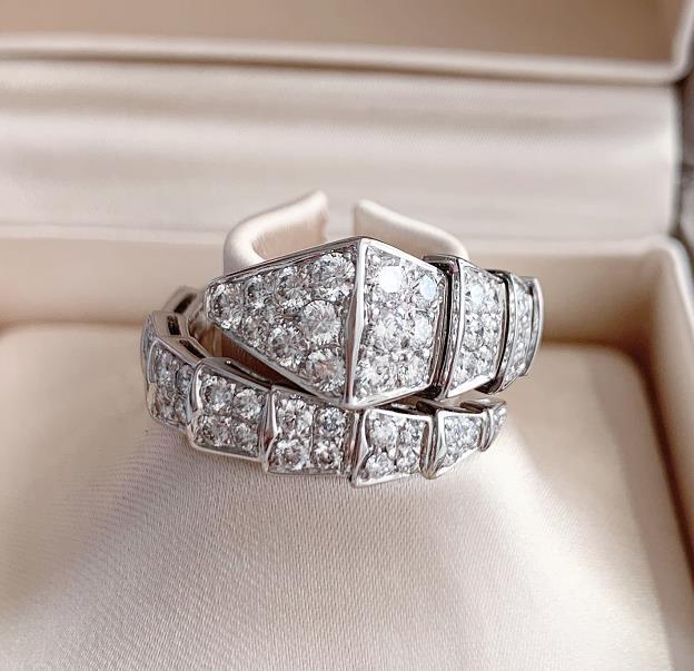 【新品】Bvlgari ブルガリ SPRPENTI VIPER リング 18Kホワイトゴールド ダイヤモンド AN855116 (ダイヤモンド1.80ct)