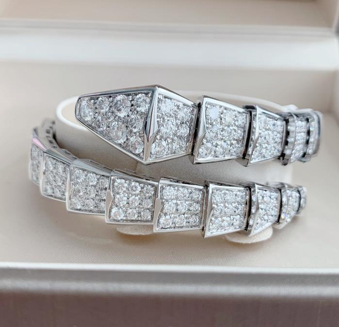 【新品】Bvlgari ブルガリ セルペンティ ラップリング 18Kホワイトゴールド ダイヤモンド BR855231M (18Kホワイトゴールド67.7g/ダイヤ9.15ct/サイズ M)