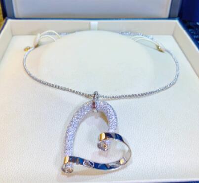 【新品】Chopard ショパール Happy Diamonds 18Kホワイトゴールド ダイヤモンド 791088-1001 (ダイヤ 3.31ct/ペンダント長さ44.4mm/ ネックレス長さ 596.9mm)