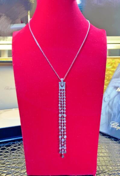 【新品】Chopard ショパール ネックレス 18Kホワイトゴールド ダイヤモンド 794668-1003