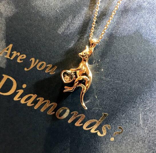 【新品】Chopard ショパール HAPPY DIAMONDS ネックレス 18Kローズゴールド ダイヤモンド 797739-5001 (18Kローズゴールド10.6g/ダイヤ0.06ct)