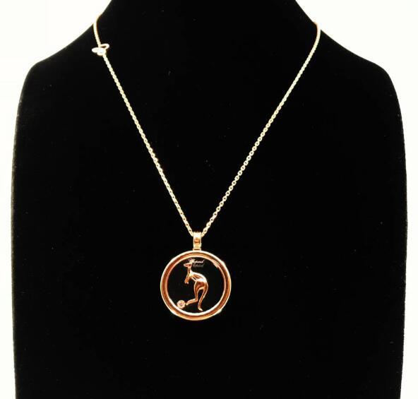 【新品】Chopard ショパール HAPPY DIAMONDS ネックレス 18Kローズゴールド ダイヤモンド 797750-5001 (18Kローズゴールド11.6g/ダイヤ0.05ct)