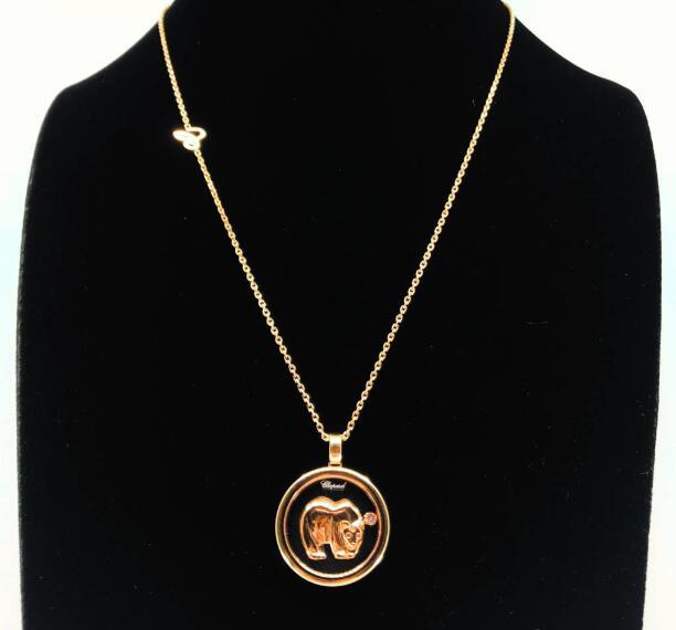 【新品】Chopard ショパール HAPPY DIAMONDS ネックレス 18Kローズゴールド ダイヤモンド 797752-5001 (18Kローズゴールド12.7g/ダイヤ0.06ct)