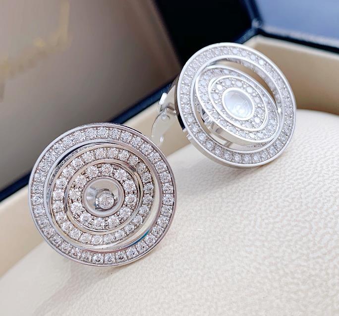 【新品】Chopard ショパール HAPPY DIAMONDS イヤリング 18Kホワイトゴールド ダイヤモンド 837700-1002 (18kホワイトゴールド9.7g/ダイヤ0.77ct)