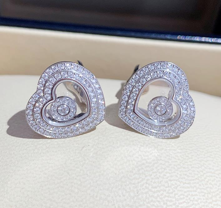 【新品】Chopard ショパール HAPPY DIAMONDS イヤリング 18Kホワイトゴールド ダイヤモンド 847209-1001 (18kホワイトゴールド20.2g/ダイヤ0.86ct)