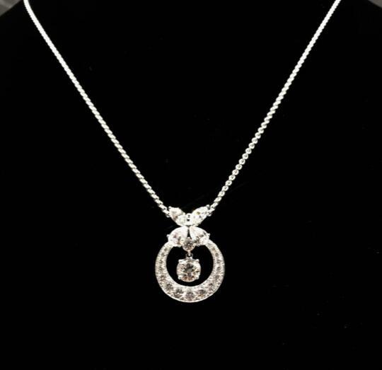 【新品】GRAFF グラフ ブランド ネックレス 18Kホワイトゴールド ダイヤモンド GP11060 (ダイヤ2.71ct/サイズ45cm)