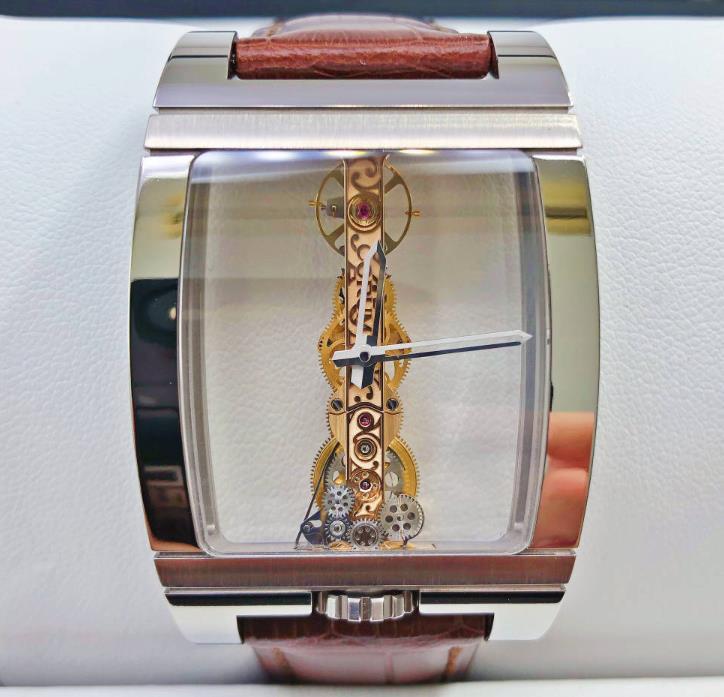 【新品】CORUM コルム チタンミニオム ゴールデンブリッジ スケルトン メンズ 腕時計 watch B113/03441【送料・代引手数料無料】