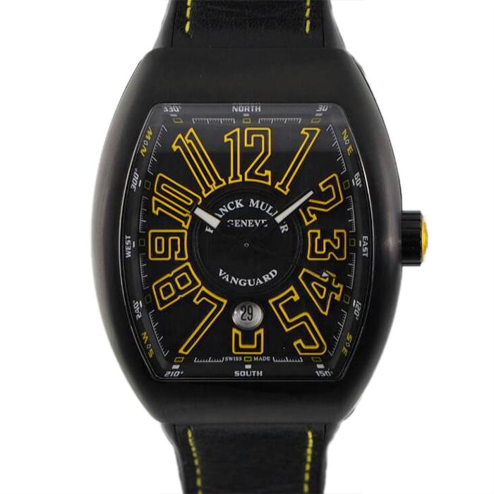 新品 FRANCK MULLER フランクミュラー ヴァンガード FM 超激得SALE V43SC DT TT NR 代引手数料無料 送料 腕時計 チタン watch V45SC ブラックPVD加工 BR 全品最安値に挑戦 JA