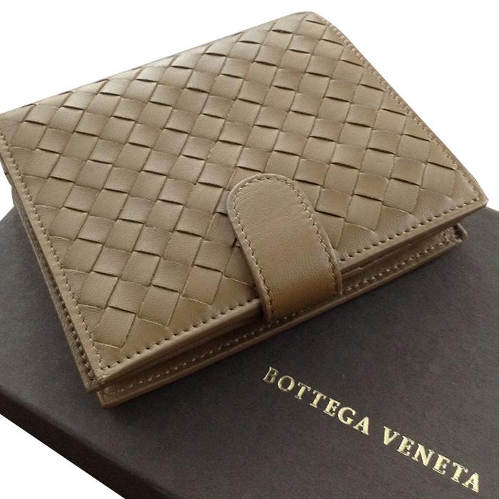 【中古】BOTTEGA VENETA ボッテガ ヴェネタ イントレチャート 二つ折り財布