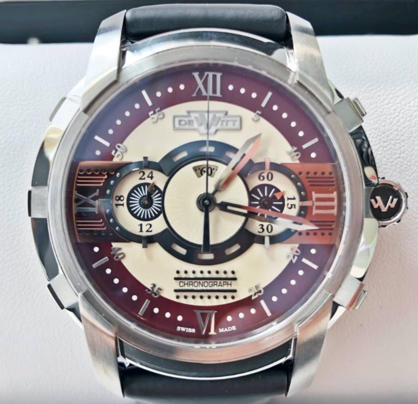 【新品】 DE WITT ドゥヴィット GLORIOUS KNIGHT グロリアス ナイト FTV.CHR.010.RFB ステンレススチール メンズ 腕時計 WATCH【送料・代引手数料無料】
