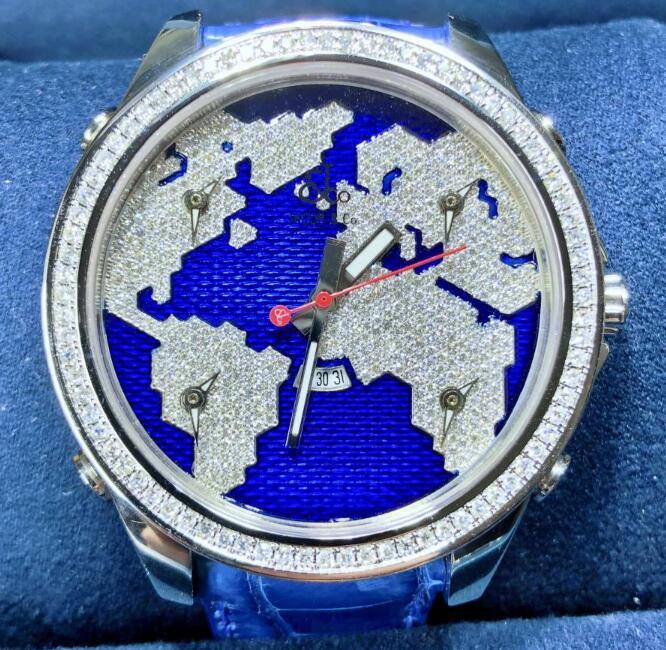 【新品】JACOB&CO ジェイコブ ファイブタイムゾーン ステンレススチール JC-47SB メンズ 腕時計 watch 【送料・代引手数料無料】