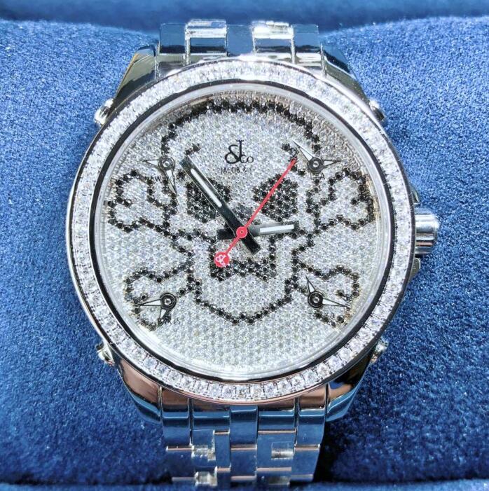 即納送料無料 新品 JACOBCO ジェイコブ ファイブタイムゾーン ステンレススチール JCM-SKULL 腕時計 watch 代引手数料無料 メンズ 送料 ※アウトレット品