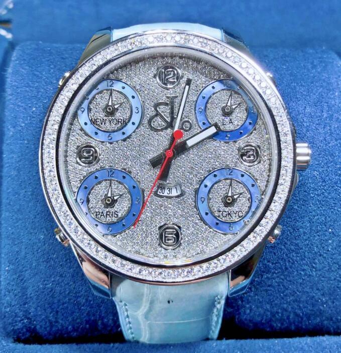 【新品】JACOB&CO ジェイコブ ファイブタイムゾーン ステンレススチール JC30B メンズ 腕時計 watch 【送料・代引手数料無料】