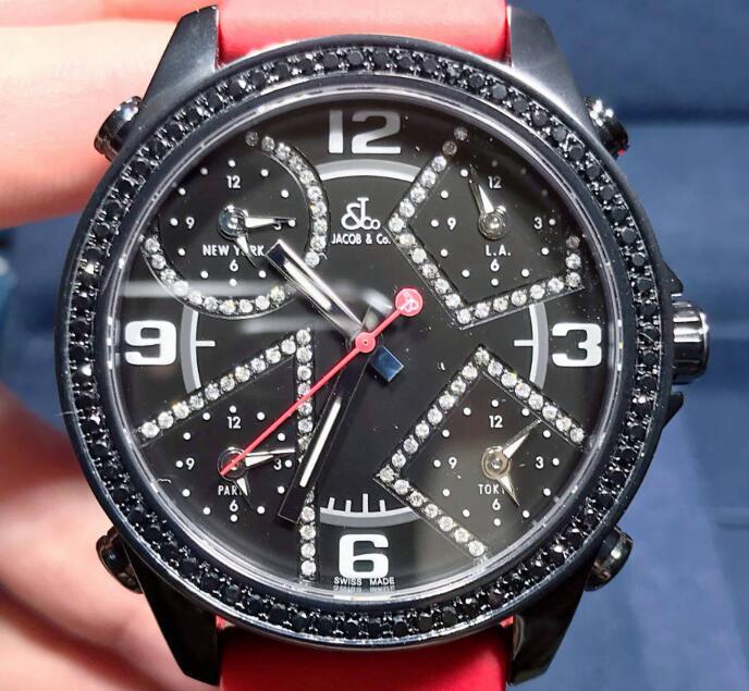 【新品】JACOB&CO ジェイコブ ファイブタイムゾーン ステンレススチール JCM-2BCDA メンズ 腕時計 watch 【送料・代引手数料無料】