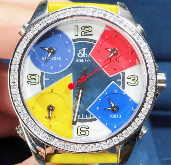 新品 [再販ご予約限定送料無料] JACOBCO ジェイコブ ファイブタイムゾーン ステンレススチール JCM-7 腕時計 送料 watch メンズ マート 代引手数料無料