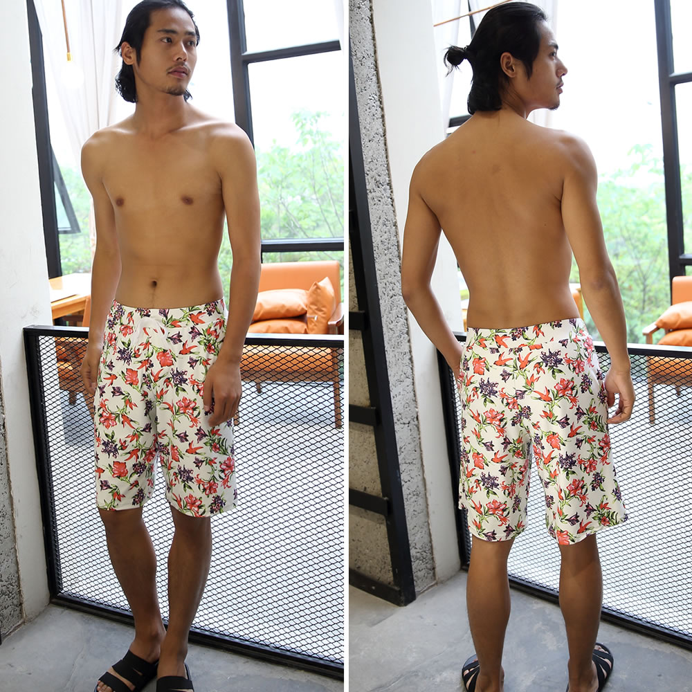 17ec177447a ... 2016 new swimwear men's half pants floral print casual short bread surf  pants men's M/ ...