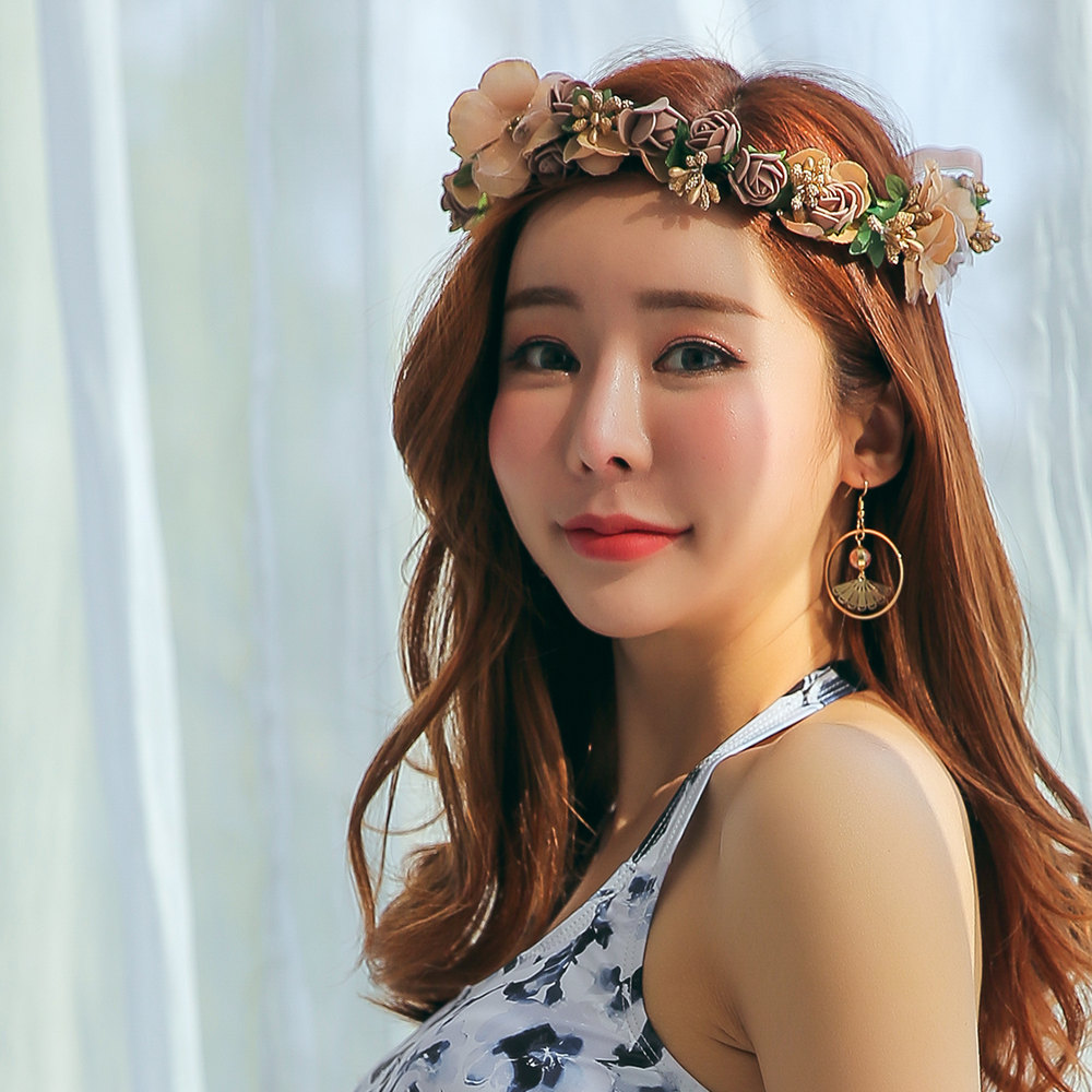 Hoyuki the swimsuit which flower crown flower headband festival the swimsuit which flower crown flower headband festival ribbon has a cute is impossible of collect on delivery in the summer izmirmasajfo