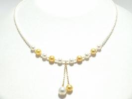 アコヤ真珠&淡水真珠デザインネックレス