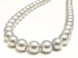 アコヤ真珠ネックレス(8.0~7.5ミリ/グレー系)