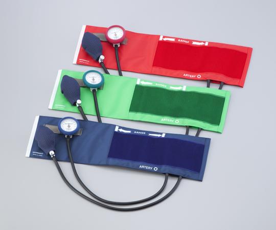 【送料無料】ナビス 耐衝撃性アネロイド血圧計(DURA-X特カフ) No,555 ブルー・グリーン・レッド 標準型 0-9618-21/0-9618-22/0-9618-23】