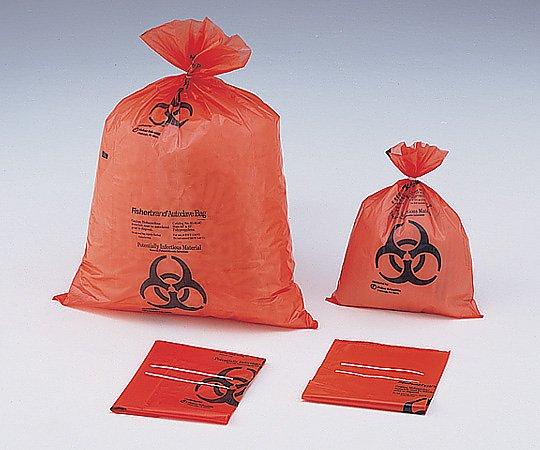 【送料無料】ナビス 滅菌表示付オ-トクレ-ブバッグ オレンジ 360×480×0.05mm 7-5324-01