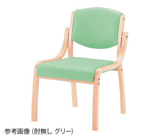 【送料無料】【直送の為、代引き不可】ナビス 椅子 ホープ 肘無し グリーン 8-1994-05