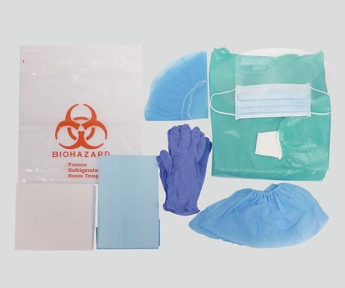【送料無料】ナビス 抗がん剤対策簡易保護キット 1箱(1キット/袋×30袋入) 8-4647-11