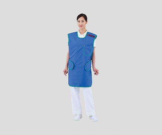 【送料無料】ナビス ワンタッチ防護エプロン LE025(ブルー) L 8-5235-02