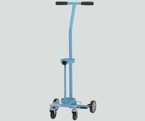 【送料無料】【直送の為、代引き不可】新鋭工業 ブルー 8-8389-02 カラーボンベカート(ストッパー付) 固定式