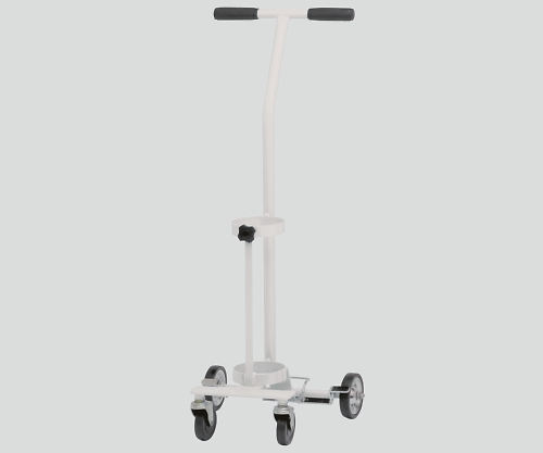 【送料無料】【直送の為、代引き不可】新鋭工業 カラーボンベカート(ストッパー付) ホワイト 伸縮式 8-8390-03