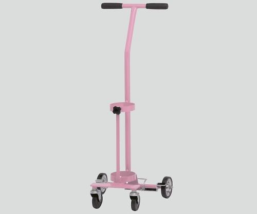 【送料無料】【直送の為、代引き不可】新鋭工業 カラーボンベカート(ストッパー付) ピンク 伸縮式 8-8390-04
