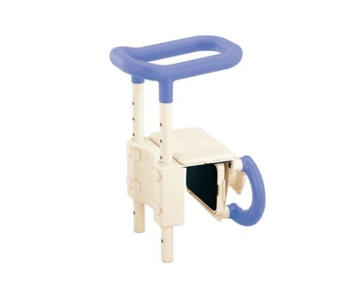 【送料無料】アロン化成 高さ調節付浴槽手すり(安寿) ブルー 0-3059-22