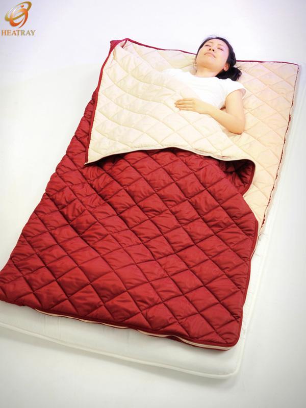 【オーラ蓄熱キルトシリーズ】ユメロン パワーアップ寝袋【ダブルサイズ・常備・お昼寝・蓄熱性・疲労回復・寝具・寝袋・冷え対策・仮眠用・エコ・節電】
