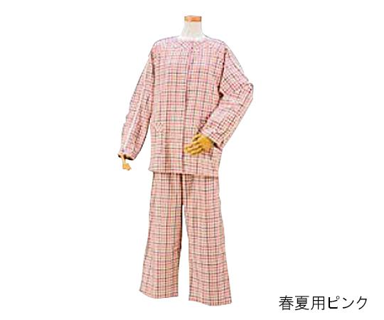 【送料無料】ハートフルウェアフジイ 肩開きパジャマHP04-HP08 春夏用 L ピンク 7-2040-03