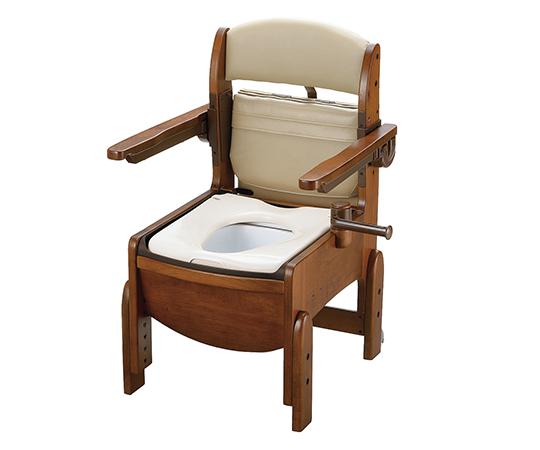 【送料無料】【直送の為、代引き不可】リッチェル 木製トイレ(きらく・コンパクトシリーズ) やわらか便座 7-2312-02