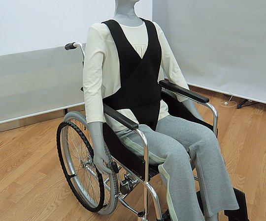 【送料無料】ナビス 車イスベルト (黒) 8-9345-02 ※車椅子本体は付属しません。