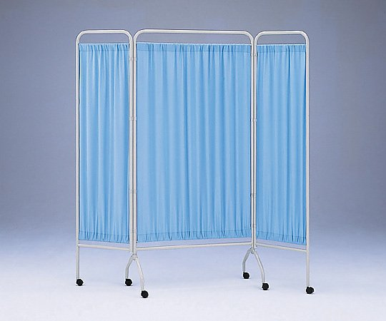 【送料無料】【直送の為、代引き不可】衝立[抗菌タイプ] CN-1845 3枚(900mm+450mm×2) ブルー 0-5763-01