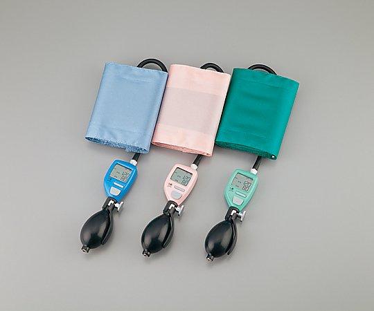 【送料無料】デジタル手動血圧計 SAM-001-BL ブルー 8-5247-01