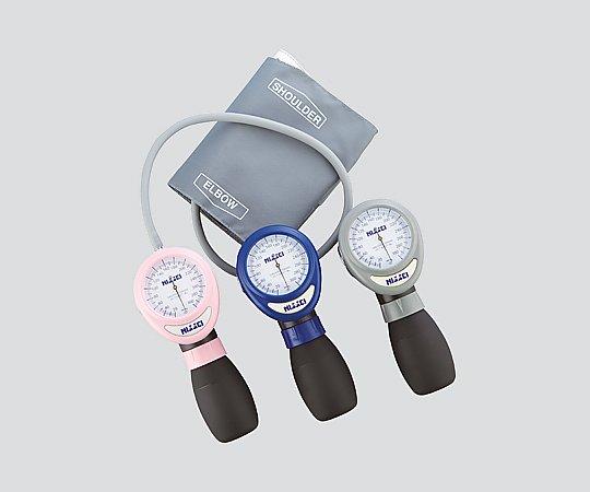 【送料無料】ナビス アネロイド血圧計[ワンハンド式] HT-1500 ブルー 8-5540-02