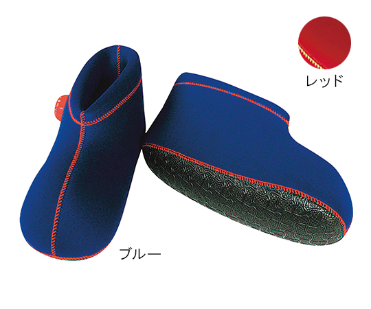 【送料無料】ヘルメット潜水 クロッツ湯たんぽ 足用ショートM ブルー 7-2145-08
