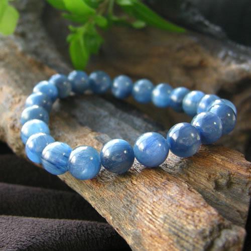 パワーストーン ブレスレット メンズ レディース 藍色の結晶 カヤナイト AAAブレスレット(高品質)03 パワ-スト-ン 天然石 パワーストーンブレスレット